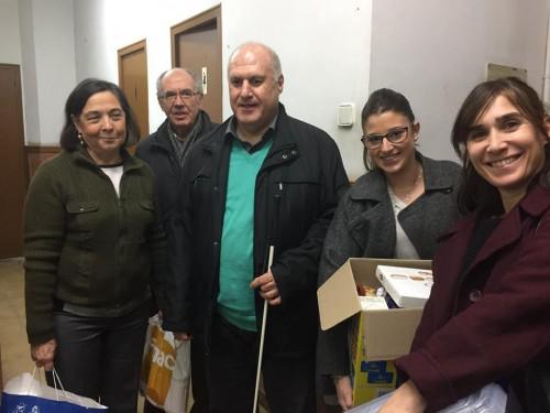 Manel Martí, president de l'Associació, voluntaris i treballadors