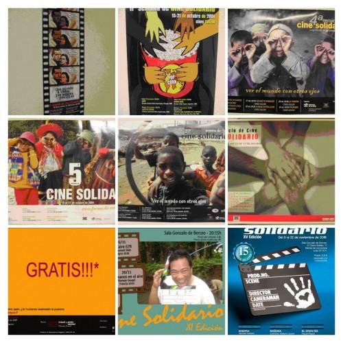carteles ciclo de cine solidario