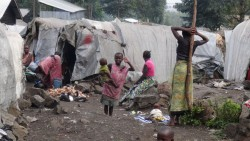 Camp desplaçats. Lac Vert, Goma