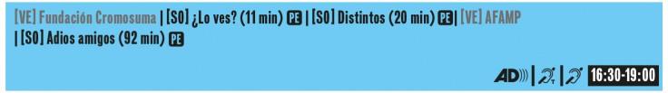 Sessió oficial 9. Diumenge 16h30-19h . AD SPS LS