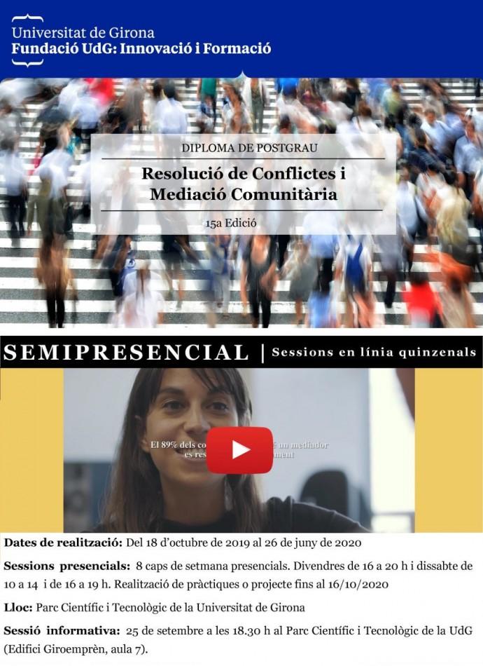 15a Postgrau de Resolució de Conflictes Públics i Mediació Comunitària UdG