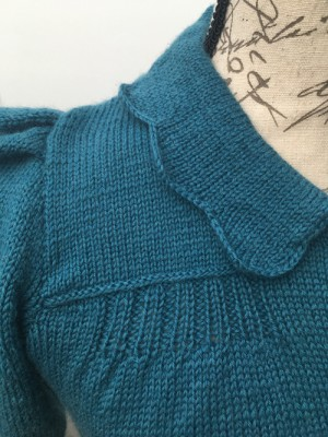 Detail of the Vintage Knitted Cardigan for Bletchley Park