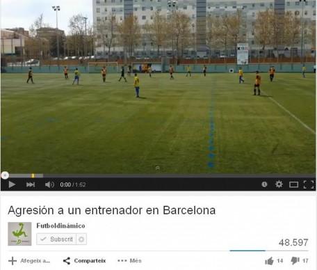 Agressió camp de futbol nens