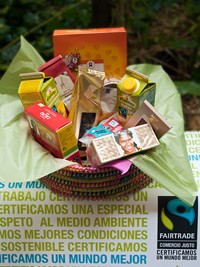 Cesta de productos fairtrade