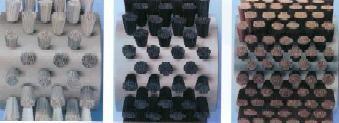 densidades de fibra en cepillo cilindrico rodillo