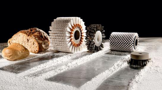 Aplicacion cepillo cilindrico rodillo panadero
