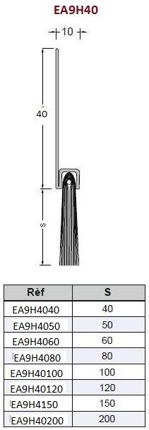 burlete cepillo Epsilon perfil 40mm