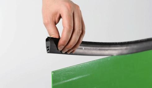 cepillo burlete flexible pinza