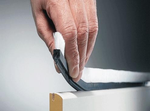 cepillo burlete flexible ranuras