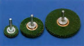 cepillo circular con eje enresinados