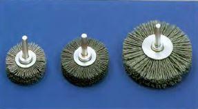 cepillo circular con eje nylon abrasivo