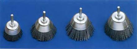 cepillo herramienta eje conico nylon abrasivo
