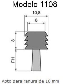 cepillo burlete flexible 1108 insertable en ranuras