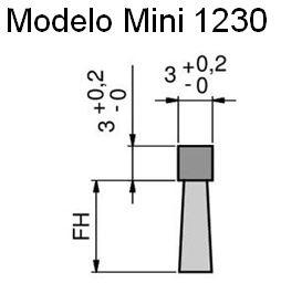 Cepillo burlete flexible modelo mini cuadrado 1230
