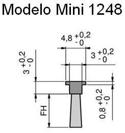 Cepillo burlete flexible modelo mini para riel 1248