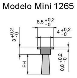 Cepillo burlete flexible modelo mini para riel 1265