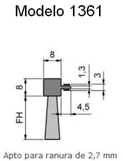 Cepillo burlete flexible Insertable en ranuras 1361