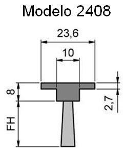 cepillo-burlete-flexible-2408 para ranuras y perfiles