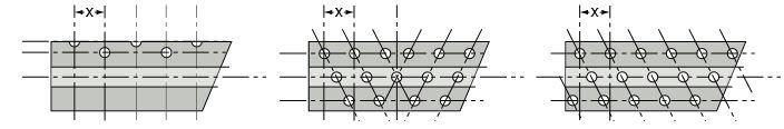 disposicion de fibra de cepillos rodillos cilindricos