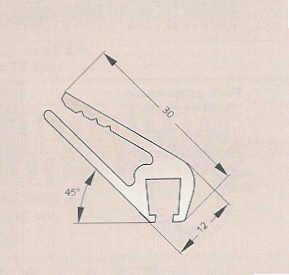 perfil pinza plastica para cepillo obturacion puertas