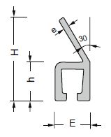 perfil aluminio en forma de Y30