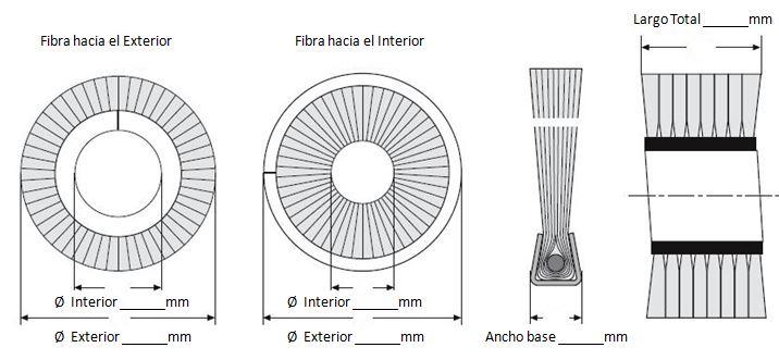 plano cepillo espiral lomo metalico