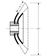 plano cepillo herramienta eje conico
