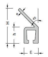perfil aluminio en forma de Y45