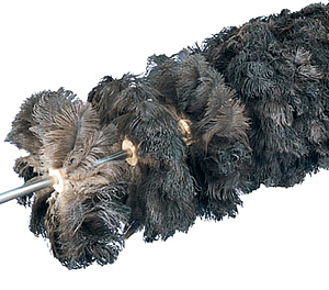 rodillo con plumas de avestruz antiestatico elimina el polvo de superficies delicadas