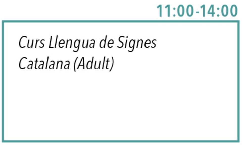 11-14 Curs Llengua de Signes Catalana (Adults