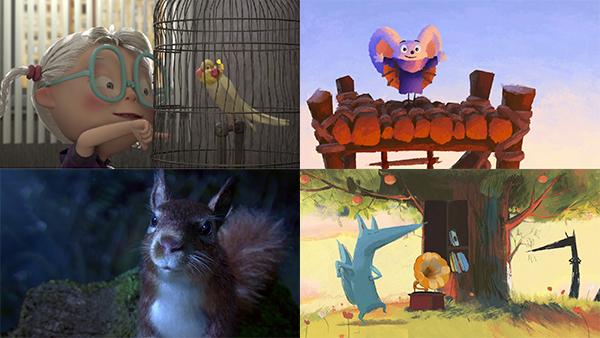 Fotogramas de distintos cortos