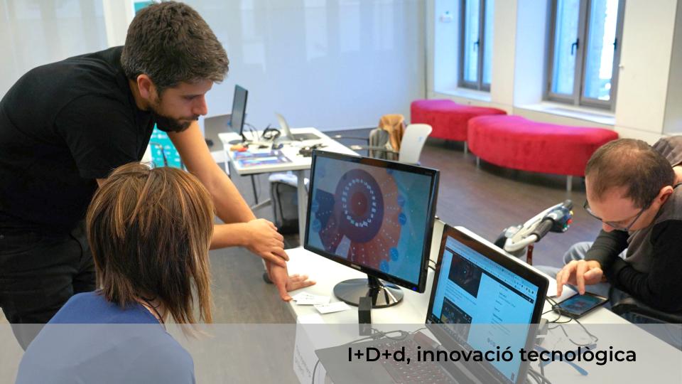 Taller de innovació tecnològica I+D+d, ( Innovació + desenvolupament + discapacitat)
