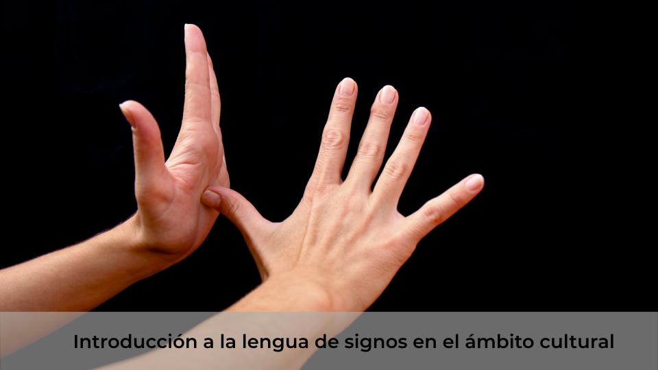 Introducción a la lengua de signos en el ambito cultural