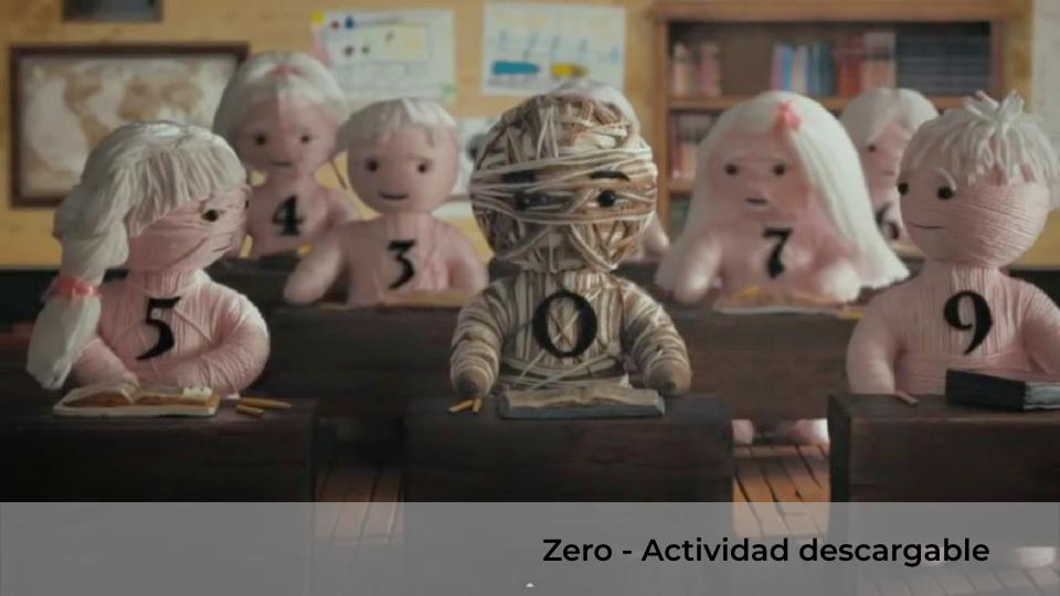 ZERO- Actividad descargable para ciclo superior de Educación Primaria.