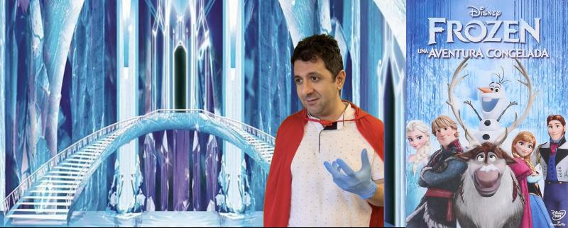 Imagen del vídeo del UEN y cartel de Frozen