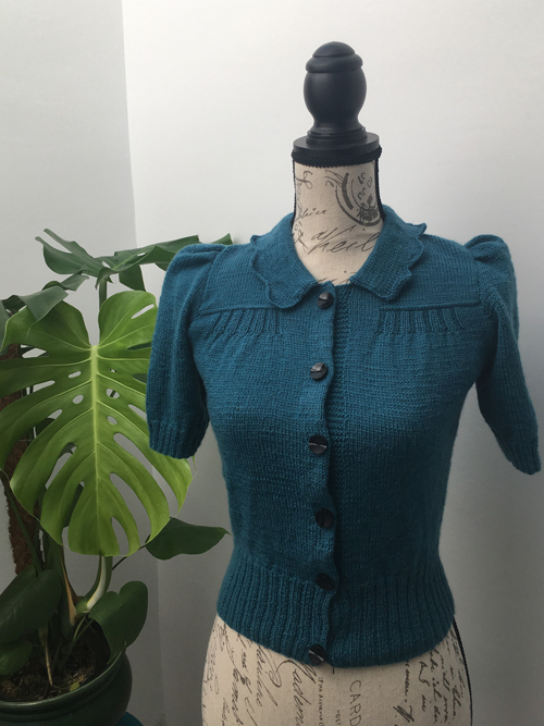 A Vintage Knitted Cardigan for Bletchley Park